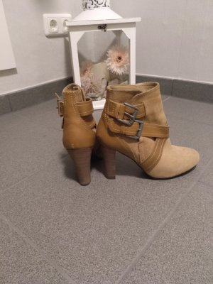 Zara Basic Bottines à enfiler marron clair-brun