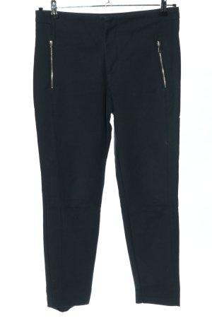 Zara Basic Pantalón pitillo azul oscuro tejido mezclado