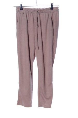 Zara Basic Stoffhose pink meliert Casual-Look