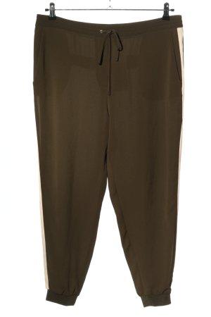 Zara Basic Stoffhose bronzefarben-creme Casual-Look