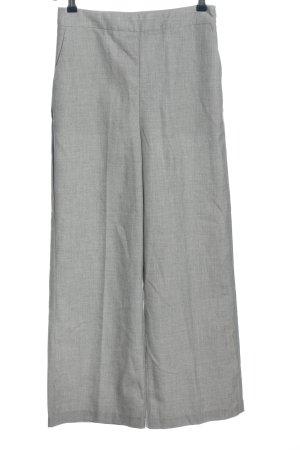 Zara Basic Stoffhose hellgrau Casual-Look