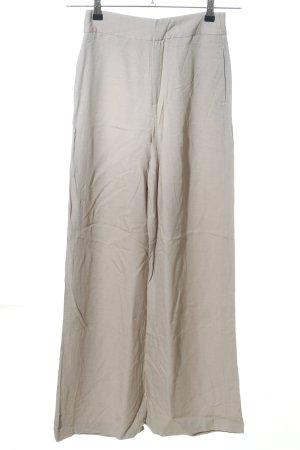 Zara Basic Stoffhose wollweiß Casual-Look