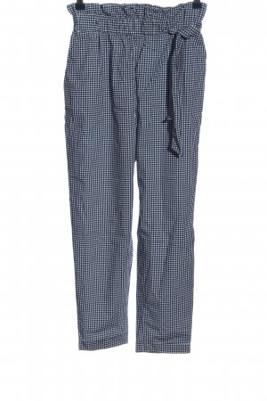 Zara Basic Stoffhose blau-weiß Allover-Druck Casual-Look