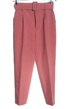 Zara Basic Stoffhose pink Business-Look