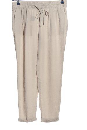Zara Basic Stoffhose creme Casual-Look