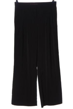 Zara Basic Stoffhose schwarz Business-Look