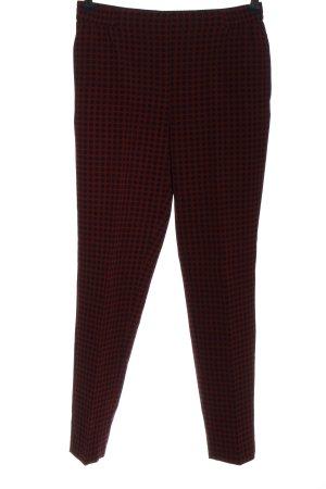 Zara Basic Stoffhose rot-schwarz Allover-Druck Casual-Look