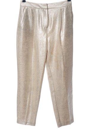 Zara Basic Stoffhose goldfarben Glanz-Optik