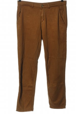 Zara Basic Stoffhose braun Casual-Look