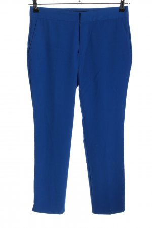 Zara Basic Stoffhose blau Business-Look