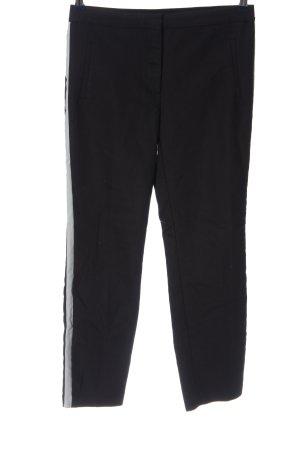 Zara Basic Stoffhose schwarz-weiß Casual-Look