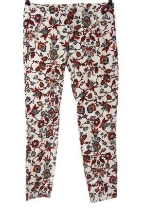 Zara Basic Stoffhose abstraktes Muster Elegant