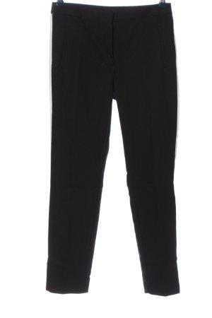Zara Basic Stoffhose schwarz-weiß Business-Look