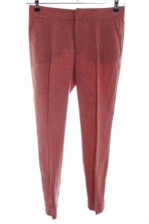 Zara Basic Stoffhose rot Business-Look