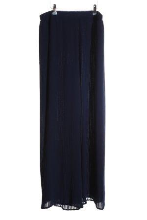 Zara Basic Stoffhose blau Elegant