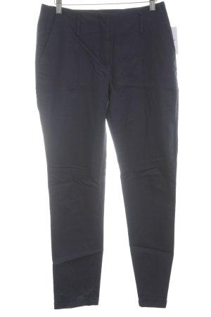 Zara Basic Stoffhose dunkelblau Casual-Look