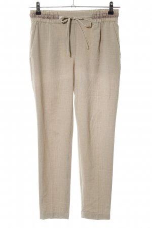 Zara Basic Stoffhose creme Casual-Look