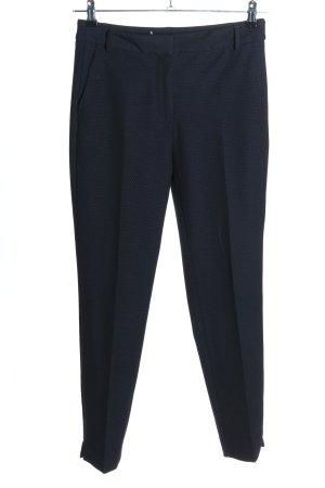 Zara Basic Stoffhose blau Allover-Druck Business-Look