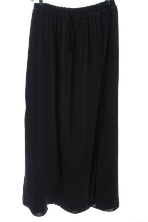 Zara Basic Stoffhose schwarz Casual-Look