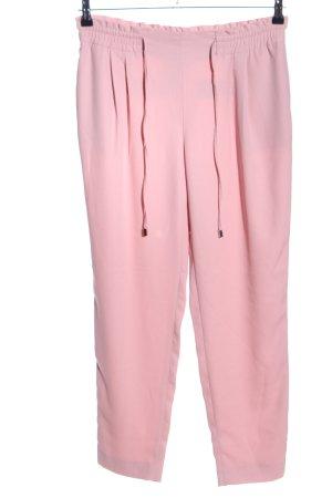 Zara Basic Stoffhose pink Casual-Look