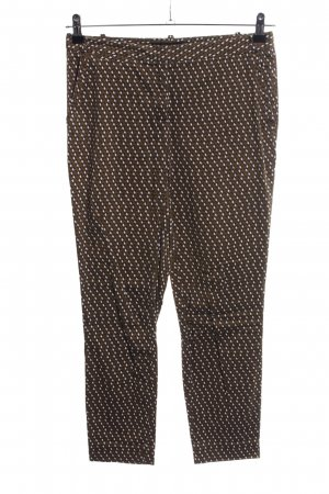 Zara Basic Stoffhose grafisches Muster Casual-Look