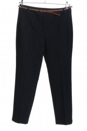Zara Basic Stoffhose schwarz-blau Webmuster Business-Look