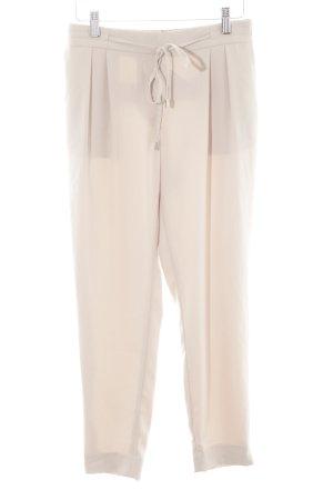 Zara Basic Stoffhose hellbeige Casual-Look