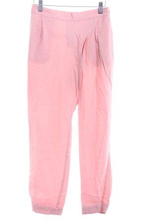 Zara Basic Stoffhose rosa Casual-Look
