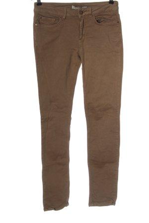 Zara Basic Jeansy z prostymi nogawkami brązowy W stylu casual