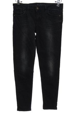 Zara Basic Jeansy z prostymi nogawkami czarny W stylu casual