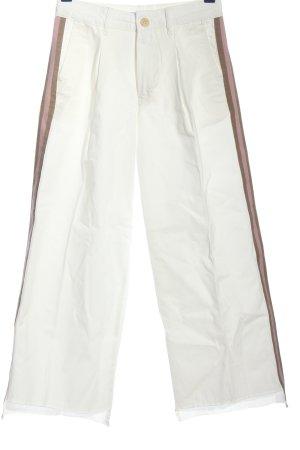 Zara Basic Jeansy z prostymi nogawkami w kolorze białej wełny-brązowy