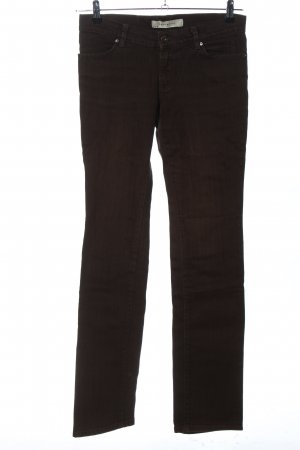 Zara Basic Straight-Leg Jeans braun Casual-Look