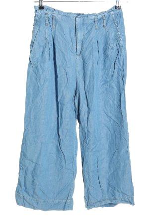 Zara Basic Straight-Leg Jeans blau Casual-Look
