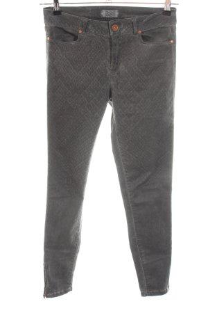 Zara Basic Straight-Leg Jeans hellgrau Allover-Druck Casual-Look