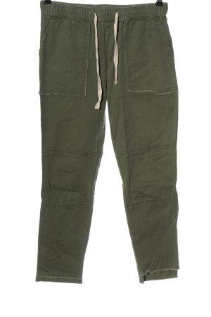 Zara Basic 7/8-jeans khaki casual uitstraling