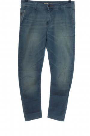 Zara Basic Straight-Leg Jeans blau Casual-Look