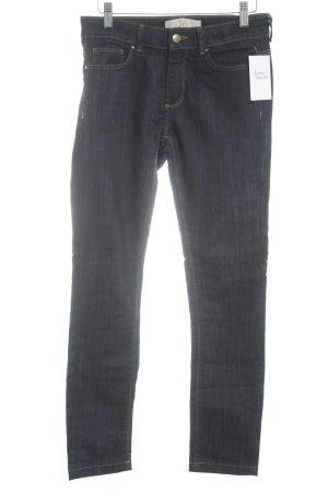 Zara Basic Jeansy z prostymi nogawkami ciemnoniebieski W stylu casual