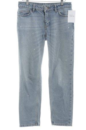 Zara Basic Jeansy z prostymi nogawkami jasnoniebieski W stylu casual