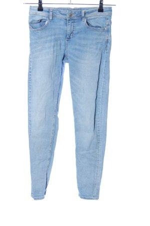 Zara Basic Vaquero elásticos azul look casual