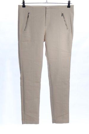Zara Basic Pantalon strech blanc cassé style d'affaires