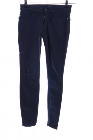 Zara Basic Stretchhose blau Casual-Look