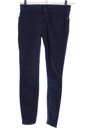 Zara Basic Stretch Trousers blue casual look