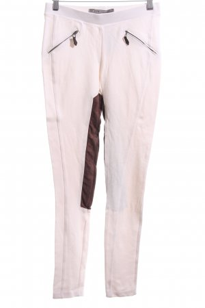 Zara Basic Stretchhose pink-braun Casual-Look