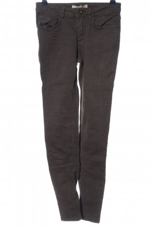 Zara Basic Stretchhose hellgrau Casual-Look