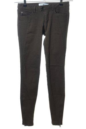 Zara Basic Stretchhose khaki Casual-Look