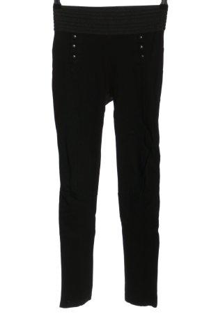 Zara Basic Pantalón elástico negro look casual