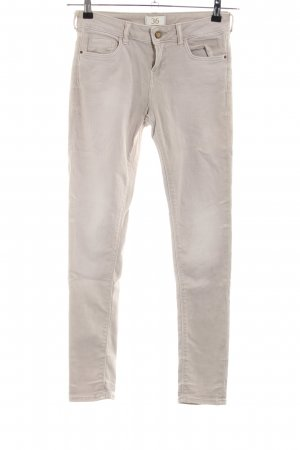 Zara Basic Stretchhose wollweiß Casual-Look