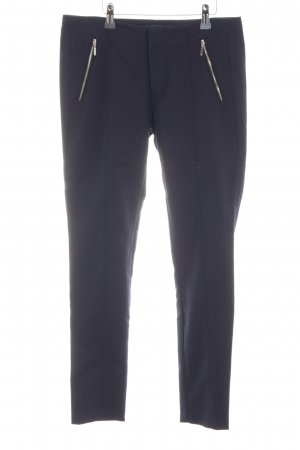 Zara Basic Stretchhose blau Business-Look