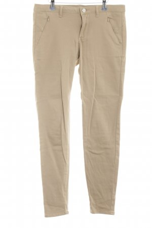 Zara Basic Stretch Trousers brown casual look