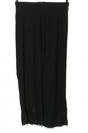 Zara Basic Stretchhose schwarz Casual-Look